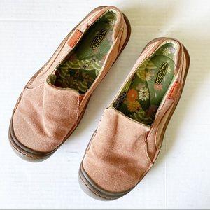Keen Canvas Slip On Shoes in Burnt Orange Rust 7